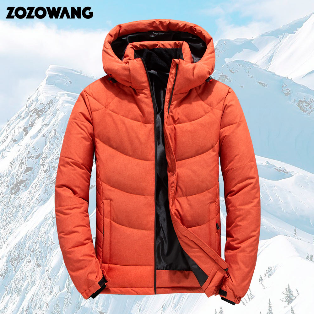 ZOZOWANG High Quality 90% White Duck Down Jacket Men Coat Snow Parkas Male Warm Brand Clothing Winter Down Jacket Outerwear 4XL