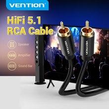 Tions RCA Audio Kabel 1m 1,5 m 2m RCA zu RCA Stecker auf Stecker Stereo Video Kabel Metall typ Koaxialkabel für TV Verstärker DVD
