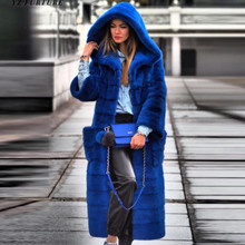Real Fur Coat Mink Women Winter Natural Fur Mink Coats And Jackets Female Long Warm Vintage Women Clothes 2019 Plus Size 7XL 8XL(China)