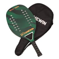 CAMEWIN raqueta para tenis de playa Casual (carbono + marco de fibra de vidrio) raqueta de tenis de paleta con cubierta de bolsa