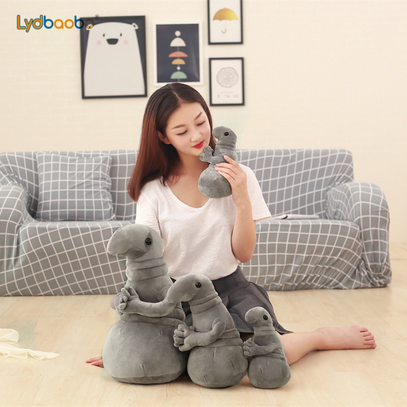 20cm Waiting Statue Meme Tubby Gray Blob Plush Toy Soft Stuffed Monster Doll Homunculus Loxodontus Creative Nice Cute Gift