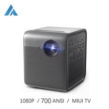 Fengmi 스마트 라이트 DLP 미니 휴대용 프로젝터 1080P 풀 HD 700 ANSI MIUI TV LED Beamer Wifi 안드로이드 3D 비디오