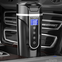 Car Electric Heating Cup 12/24V 450ml Car Travel Heating Mug With Lid Portable Smart