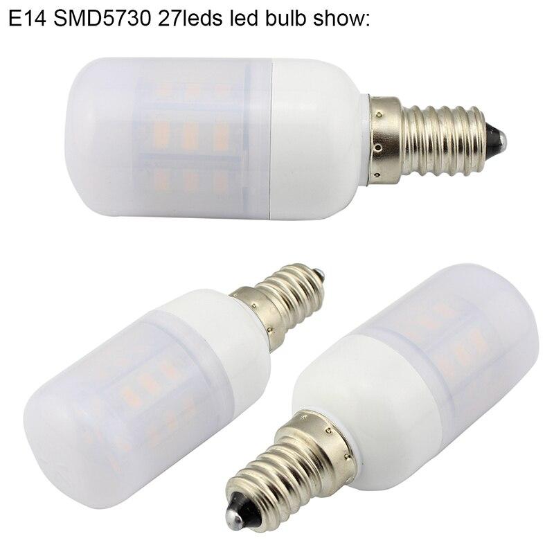 E14 SMD5730 27led led bulb show