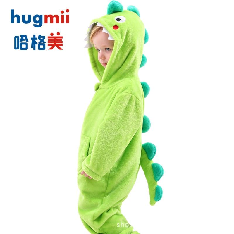 Hugmii CHILDREN'S Pajamas Nightgown Bathrobe Long Sleeve One-piece Spring, Autumn And Winter Men And Women Children Stereo Model
