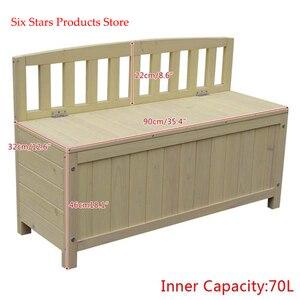 "WSB-900 banco de 35 ""para exteriores con patio de madera de abeto con caja de almacenamiento 7L 90cm * 68cm * 32cm (L x W x H)"