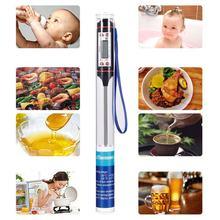 Digital termômetro de carne cozinhar comida cozinha churrasco sonda água leite óleo líquido forno digital temperaure sensor medidor termopar
