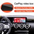 Видео AI Box для Mercedes Benz A B Class GLA CLA W177 W247 со встроенным CarPlay, поддерживает Mirror Link мультимедийную систему Android