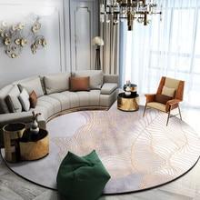 Нордическая линия круглый ковер гостиная домашний круглый коврик Толстая спальня коврик компьютерный коврик на стул и на пол гардероб современные коврики