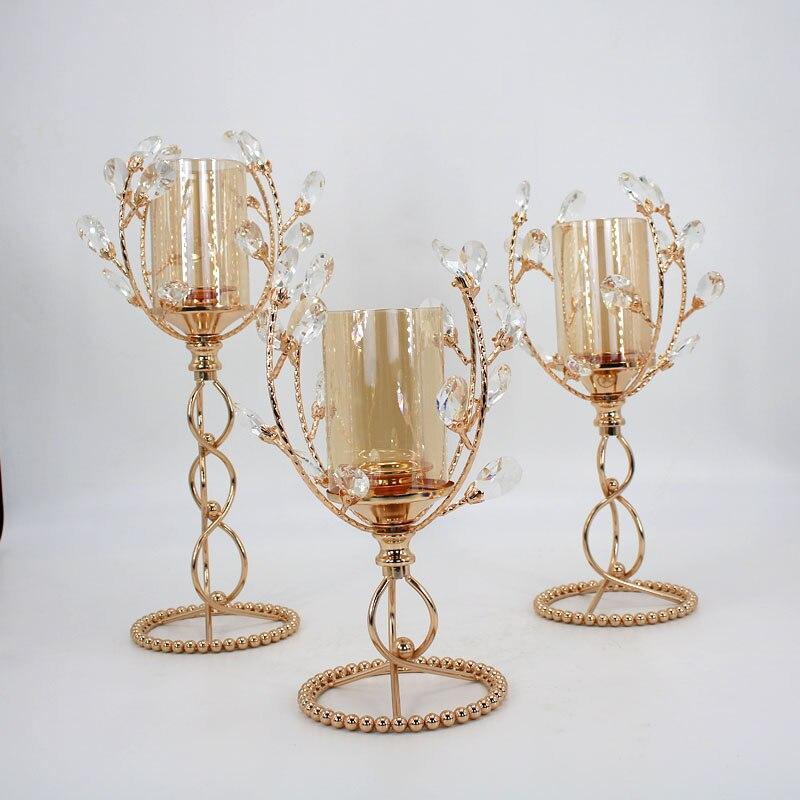 Chandelier géométrique nordique minimaliste or danemark design minimaliste bougeoir en cristal décorative en métal 3D