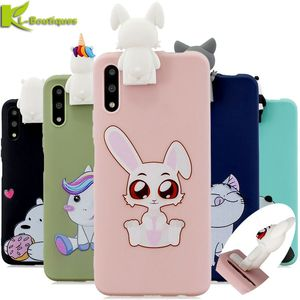 Honor 9X Pro Case Huawei Honor 9X Pro Cover na for Coque Huawei Honor 9X 9 X Case 3D DIY Doll Toy Soft Phone Case Holder Stand()