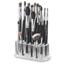 26 Holes Clear Acrylic Desk Cosmetic Organiser Lipstick Brush Holder Makeup Storage Case
