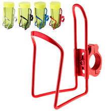 4-color aluminum alloy kettle cage cup holder with clip and curved arm for motorcycle and electric bike bicycle lightweight beve(China)