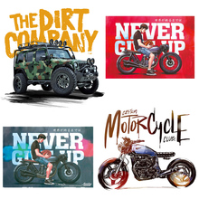 motorcycle cars stripe iron on Transfers for Clothes Patch Iron on transfers Stickers Patches On Clothes Boy T Shirt style nicediy famous scientist patch heat transfers iron on patches for t shirt diy craft stickers applications for clothes decorative