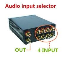 Divisor de sinal 4 em 1 para fora áudio rca conector seletor de sinal fonte alta fidelidade entrada cabo rca switcher schalter caixa