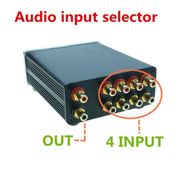 Répartiteur de signal 4 en 1 sortie audio connecteur rca sélecteur de signal sélecteur de Source entrée HIFI commutateur de câble rca boîtier schalter