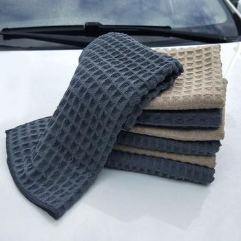 40x40cm miękkie okno samochodu pielęgnacja mikrofibra polerowanie woskiem Detailing ręcznik czyszczenie samochodu Wash bezśladowe tkaniny do czyszczenia kuchni tanie i dobre opinie Byfa CN (pochodzenie) fiber 0 06kg none 0inch Car Cleaning Waffle Weave Design Waffle Style