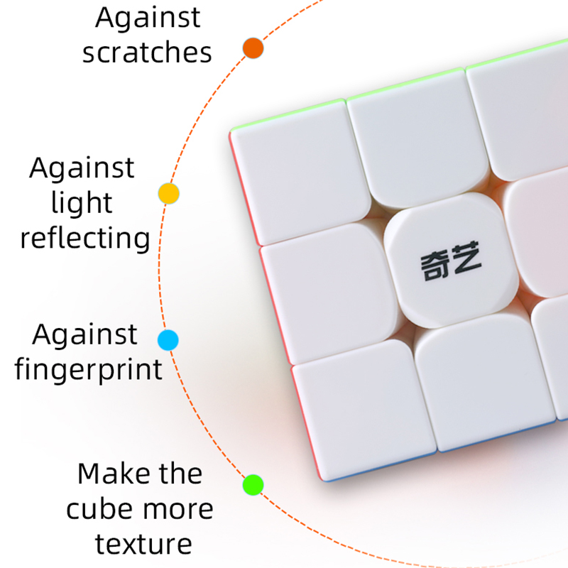 QiYi QiMeng Plus 3x3 90mm Stickerless Magic Cube Big 3x3x3speed cube 9cm antistress cubes Learning Educational Puzzle Cubes Toys 5