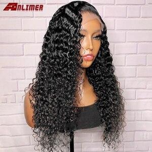 Anlimer 360 Peluca de cabello humano Frontal de encaje mojado y ondulado Peluca de ondas de agua Remy de Malasia pelucas de cabello humano delanteras de encaje 13x6 para mujeres