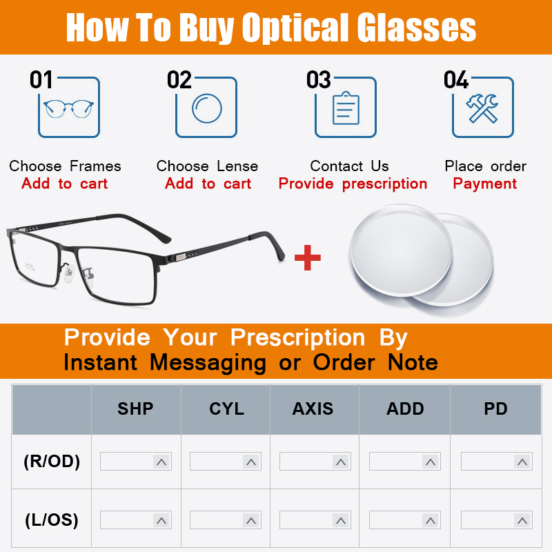 Image 5 - TANGOWO Alloy Glasses Frame Men Women Vintage Rectangle Myopia Optical Frames Prescription Eyeglasses Screwless EyewearMens Eyewear Frames   -