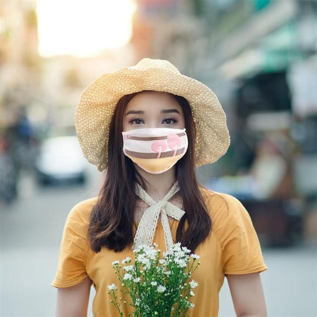 3pcs Antidust Cotton Mouth Masks For Newborn Babies Against Dust, Pollen, Allergens And Flu Germs Cotton Face Mask(Random) 3