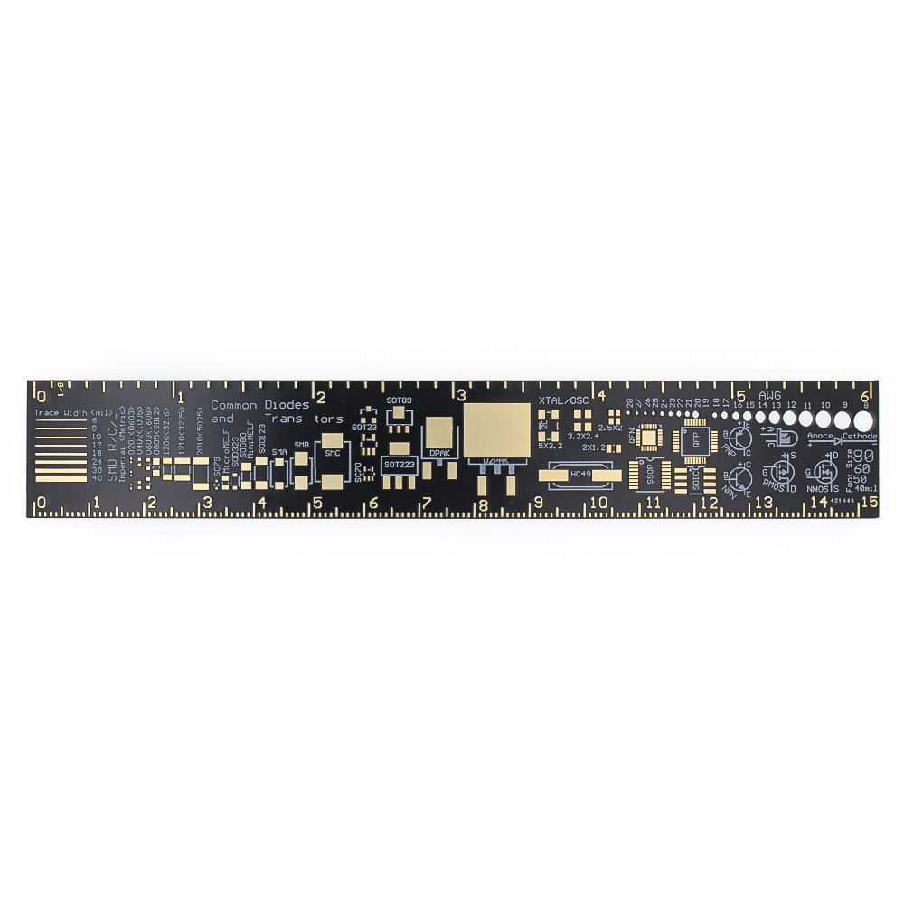 Régua 15cm do pwb para coordenadores eletrônicos para geeks fabricantes fãs pwb régua de referência unidades de empacotamento do pwb v2 - 6