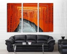 Modern Colorful Picture Fushimi Inari Taisha Kyoto Japan Room Decor Cities Canvas Art Painting  Living Bedroom