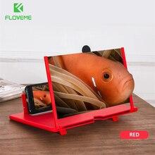 12 インチプルタイパー hd 携帯電話の画面拡大鏡折りたたみ 3D 画面アンプ携帯電話ホルダースタンド ampliador デ pantalla
