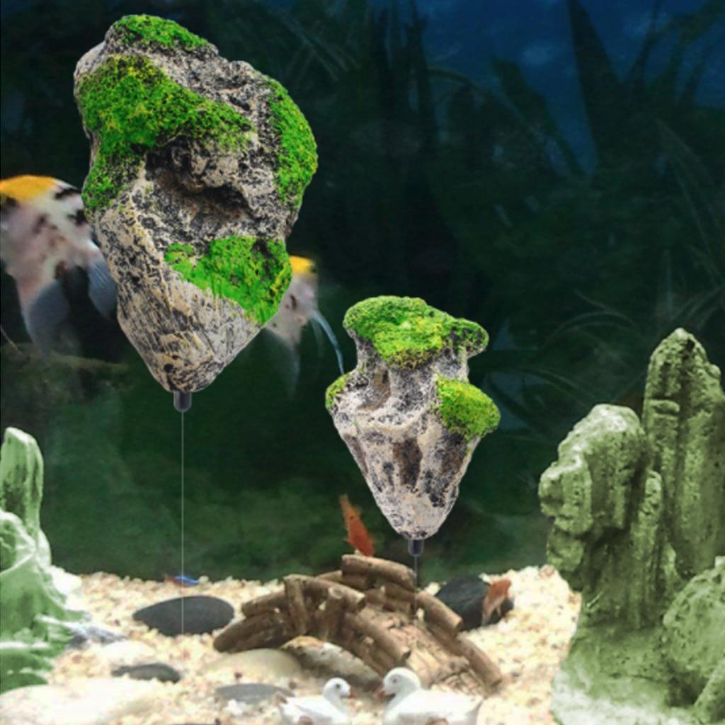 Aquarium Tank Floating Rock Suspended Artificial Stone Aquarium Decor Fish Tank Decorations Floating Pumice Flying Rock Ornament