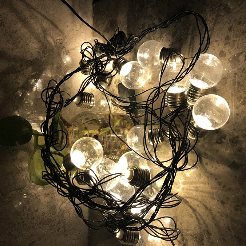 6m 20LED bulb light string EU / US plug fairy wedding party holiday decoration bulb bedroom living room garden lights string