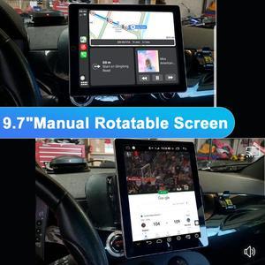"Image 2 - Tesla Style Rotatable 9.7"" 2Din Universal Android Car Stereo Radio GPS Carplay DSP SPDIF Subwoofer WiFi 4G SIM Bluetooth 5.1 DVR"