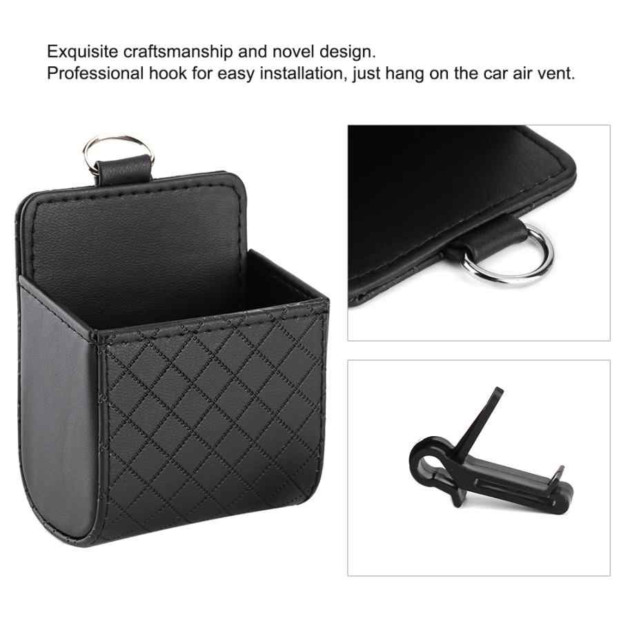 Black Car Air Vent Outlet Organizer Storage Bag Phone Case Box Holder Pocket Car Acessories Domestic Delivery