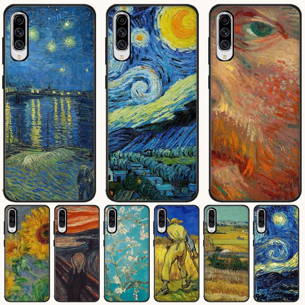 BaweiTE ואן גוך ציור יוקרה ייחודי עיצוב טלפון כיסוי עבור Samsung A10 20 30 40 50 70 10S 20S 2 Core C8 A30S A50S