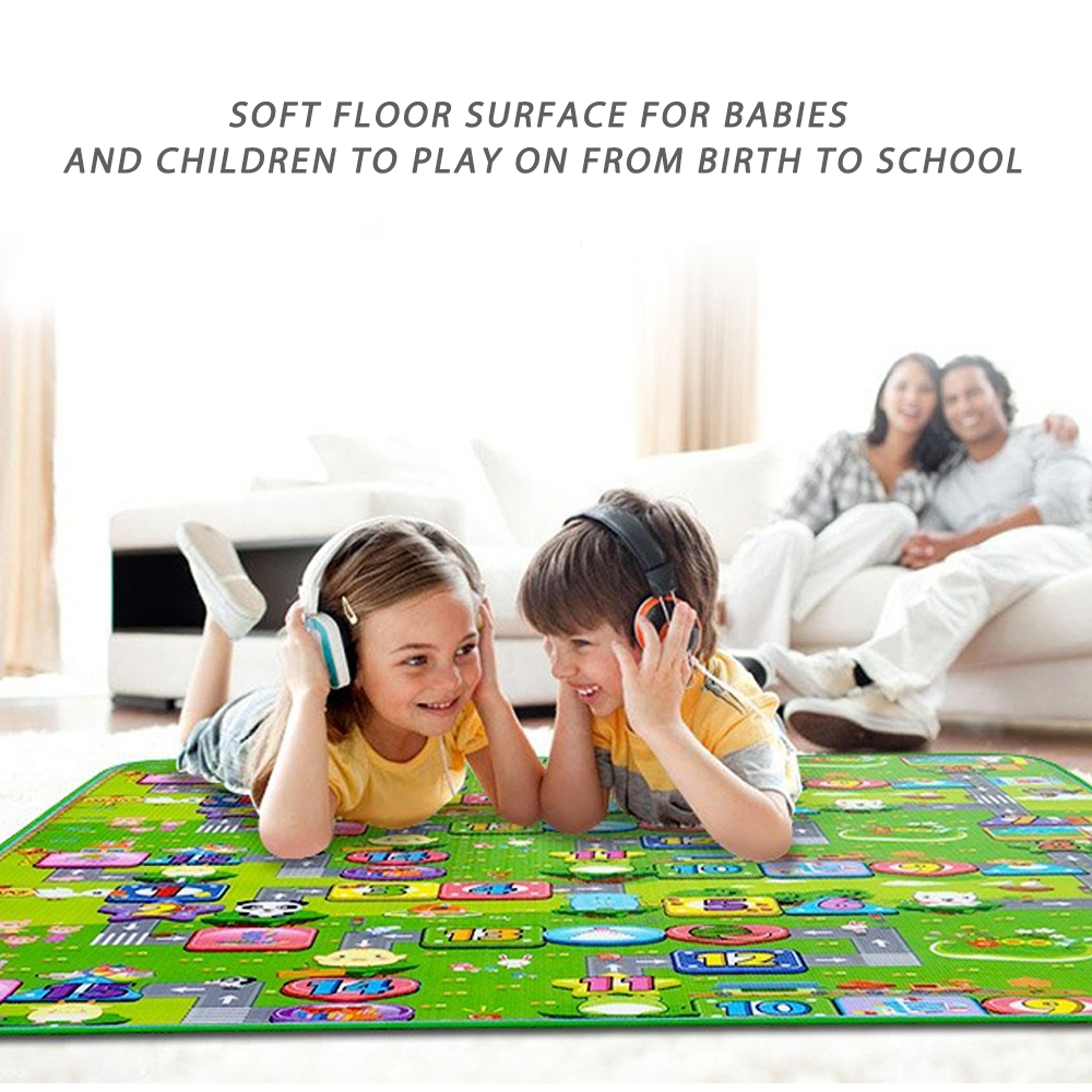 Crawling Mat Baby Play Mat Foldable Double Surface Baby Carpet Rug Soft Game Pad 200*180cm Cartoon Developing Carpet For Child