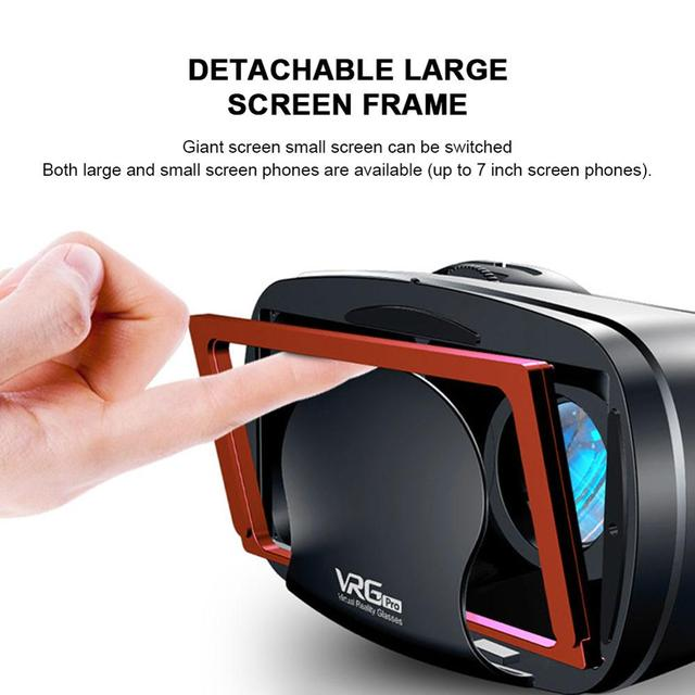 Virtual Reality 3D VR Headset Smart Glasses Helmet for Smartphones Cell Phone Mobile 7 Inches Lenses Binoculars with Controllers 4