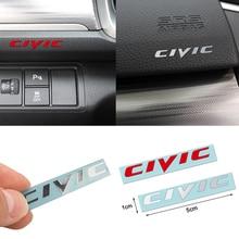 3D Car-Styling Reflective CIVIC Emblem Aluminum Alloy Badge Decoration Stickers For Honda CRV Accord Civic City Car Accessories