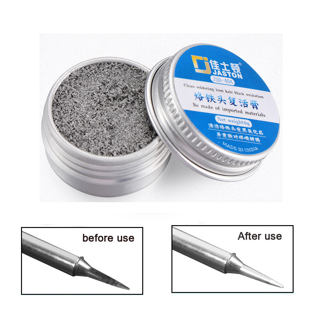 Electrical Soldering Iron Tip Refresher Cream Solder Head Clean Paste