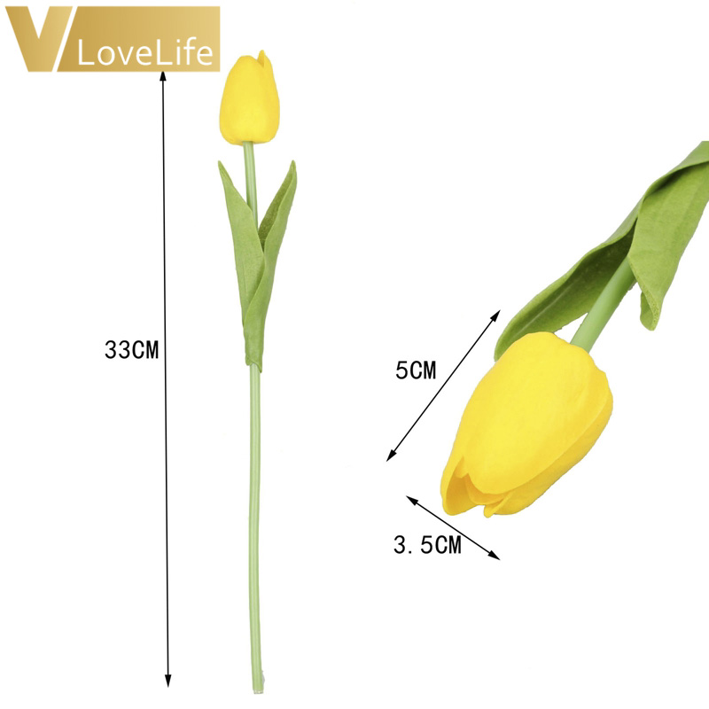 10pcs Artificial Tulip Flowers Mini tulip Flowers Real Wedding Flowers For Wedding Banquet Bridal Bouquet Home Garen Decoration 2