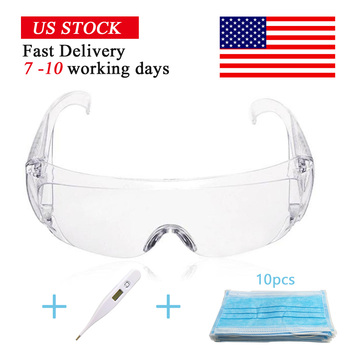 Non-woven breathing safety disposable mask, quick measuring thermometer, goggles set. Delivery time is about 7-10.
