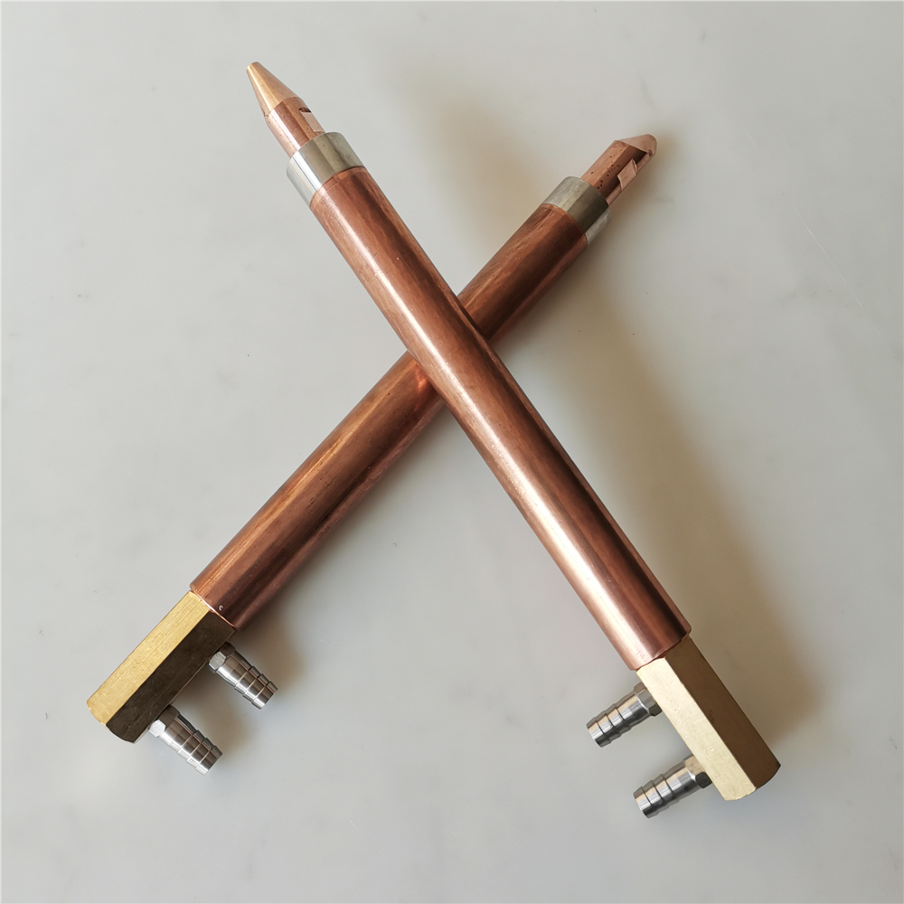 Spot welding machine electrode grip rod through water copper rod   cooling electrode copper tube Holders electrodes