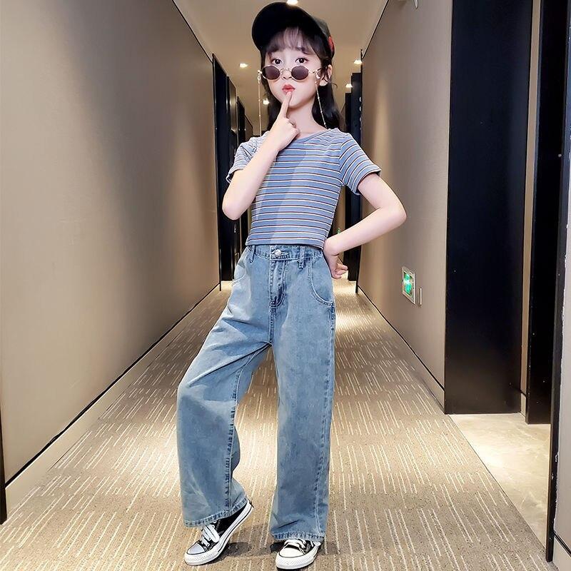 2021 Children  Girls kids Jeans Pants Fashion Baby GIRL'S Pants Trousers