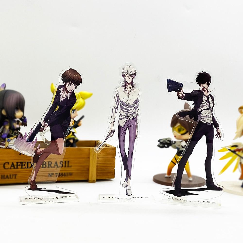 Psycho Pass Kougami Akane Makishima HM Acrylic Stand Figure Model Plate Holder Cake Topper Anime Japanese