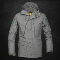 الربيع والخريف التكتيكية خندق معطف الرجال المشجعين الجيش التمويه للماء و تنفس معطف دافئ M65 أرخون في الهواء الطلق سترة مضادة للم