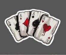 1 шт., покерная Водонепроницаемая наклейка, одна распродажа, крутой ноутбук, багаж, холодильник, граффити скейтборд, наклейки на ноутбук, бесплатная доставка