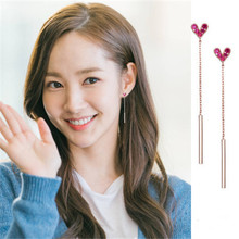 Love Necklace Peach Heart Earrings Korean simple  for women brincos fashion jewelry mujer geometric Jewelry suit a suit of graceful geometric beads necklace and earrings for women