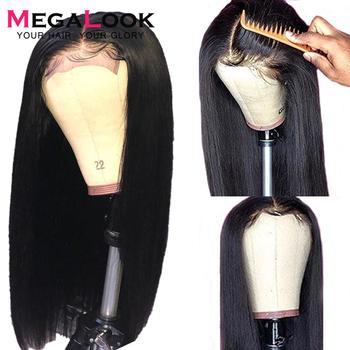 4 #215 4 6 #215 6 zamknięcie peruka zamknięcie koronki peruka prosto koronkowa peruka na przód 150 Remy 30 cal koronkowa peruka brazylijski ludzki włos peruka zamknięcie peruka tanie i dobre opinie megalook Proste Ciemniejszy kolor tylko Swiss koronki 4*4 Lace Closure Wig Jasny brąz Średnia wielkość Top Hand Selected 100 Remy Human Hair