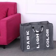 Bolsa plegable para la colada, cesto grande para ropa sucia, clasificador de tela Oxford, bolsa de ropa sucia con mango de aluminio