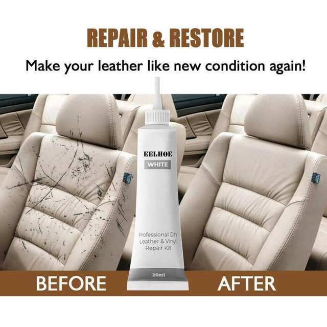 Online Car Reconditioning Cream Black White Leather And Vinyl