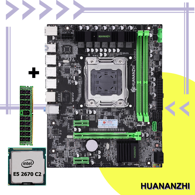 New arrival computer assembly DIY discount mobo HUANANZHI X79 LGA2011 motherboard with CPU Intel <font><b>Xeon</b></font> E5 <font><b>2670</b></font> SR0KX RAM 8G image