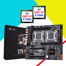 New arrival HUANANZHI motherboard bundles on sale X79-4D LGA2011 motherboard with M.2 SSD slot dual CPU Xeon E5 2697 V2 2.7GHz(China)